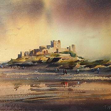 Landscape painting watercolour by fine artist Trevor Waugh.