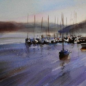 Kinsale-Harbour oild on canvas, Trevor Waugh