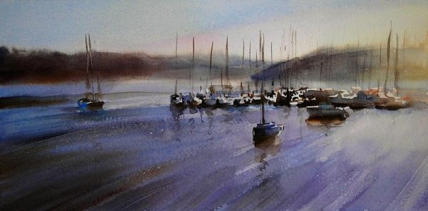 Kinsale-Harbour oild on canvas, Trevor Waugh