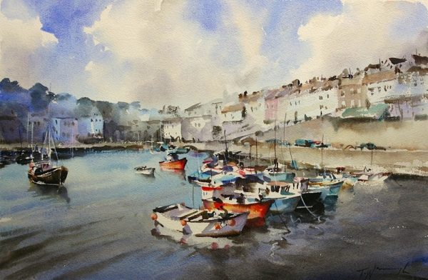 Mevagissey-Harbour, Trevor Waugh