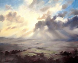 A-Wiltshire-Sky oil paiting