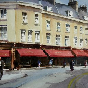 Watercolour in Bath by Trevor Waugh