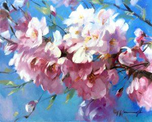 """Cherry Blossom"" / Oil on canvas 20"" x 16"""