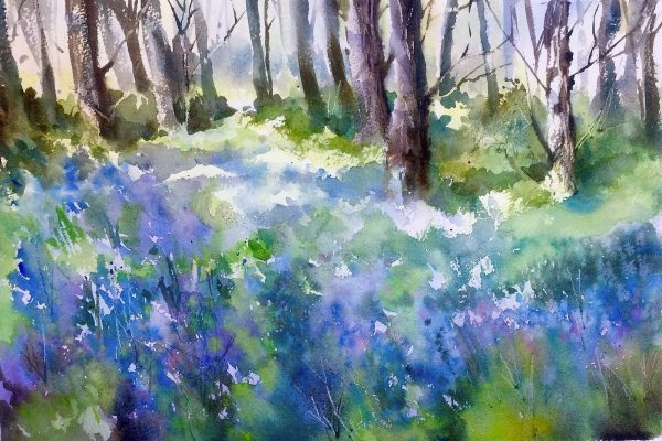bluebells oul painting Trevor Waugh