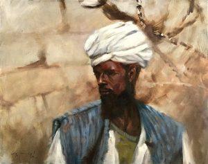 """""""Camelman"""" oil on canvas"""