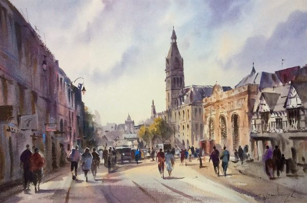 Chester Town Hall, watercolour by Trevor Waugh