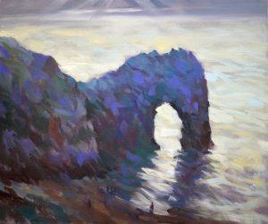 Durdle-Dor-Dorset Painting Trevor Waugh