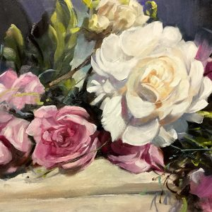 Church Flowers, original art by Trevor Waugh