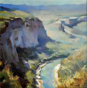Gorges-du-Verdon-France- painting Trevor Waugh