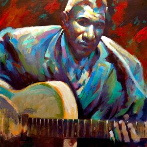 Howlin wolf, original art by Trevor Waugh