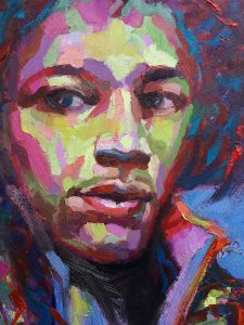 jimi painting by Trevor Waugh