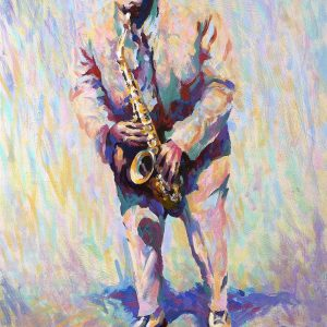 Louis Jordan Oil on canvas framed
