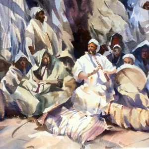 Moroccan Musicians watercolour