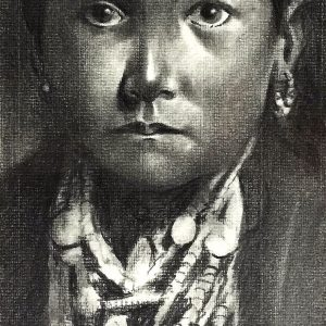 Native American Girl painting