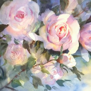 Watercolour of Roses. Full- sheet unframed price