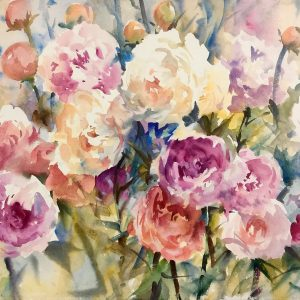 Peony Patterns Watercolour