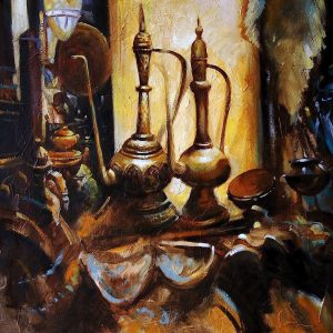 Persian Coffee Pots Oil Painting on canvas