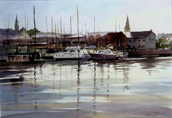Plymouth Harbour in watercolour