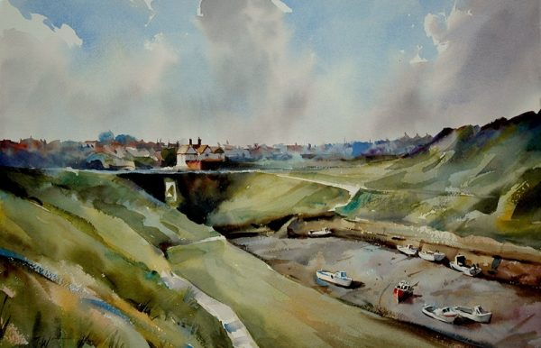 Seeton-Sluice-Northumberland- Painting by Trevor Waugh