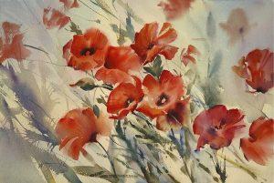 Summer Breeze flower painting