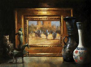 Cabinet, original art by Trevor Waugh