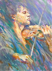 The Violinist Oil on canvas