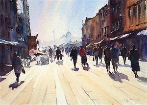 Via Garibaldi Venice Watercolour on paper