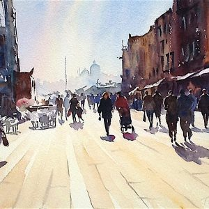 Via Garibaldi Venice Watercolour on paper