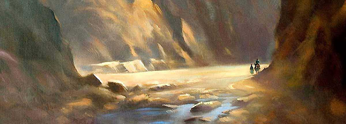 Gorge, Original Painting by Artist Trevor Waugh
