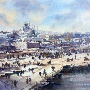 istanbul, original art by Trevor Waugh