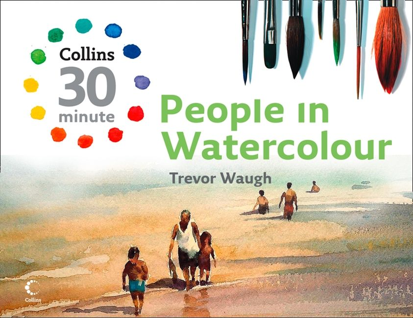 people in watercolors