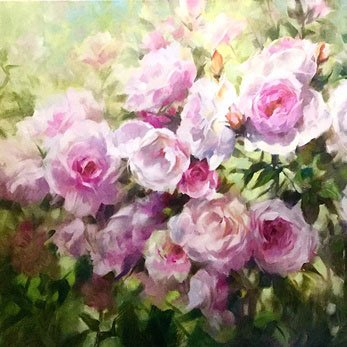 Flower painting. Roses in watercolour. Art to purchase