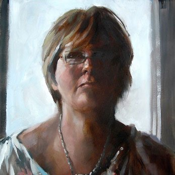 Portraiture. Portrait Painting Darlas.The Artists wife