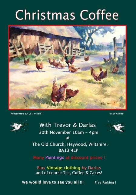 Meet the Artist and Buy Fine art paintings at the Christmas Coffee Event 30th November 2019