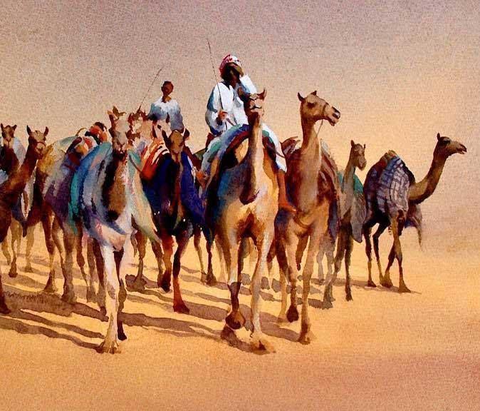 Emirates through the eyes of an artist book