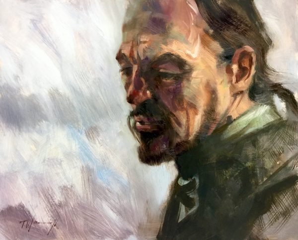 Bronn Oil on board
