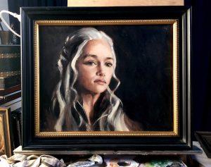 Daenerys Oil on board Framed