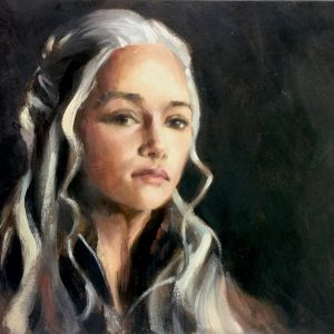 Daenerys Targaryen Oil on Board