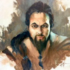 Khal Drogo Oil on board