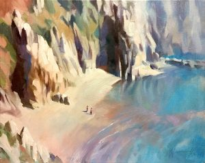 Kynance Cove Cornwall Oil on canvas