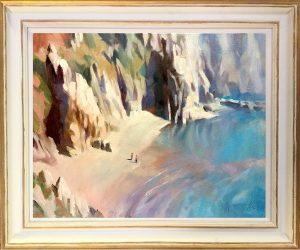 Kynance Cove Cornwall Oil on canvas framed