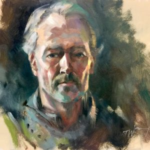 Ser Jorah Mormont Oil On Board