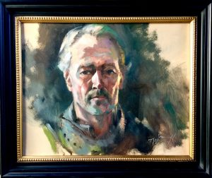 "Ser Jorah Mormont GOT Oil on Board 20"" x 16"""