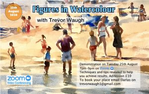 Painting figures in watercolour tutorial