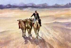 Camels Contre Jour