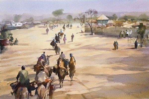 A Saharan Village on Market Day