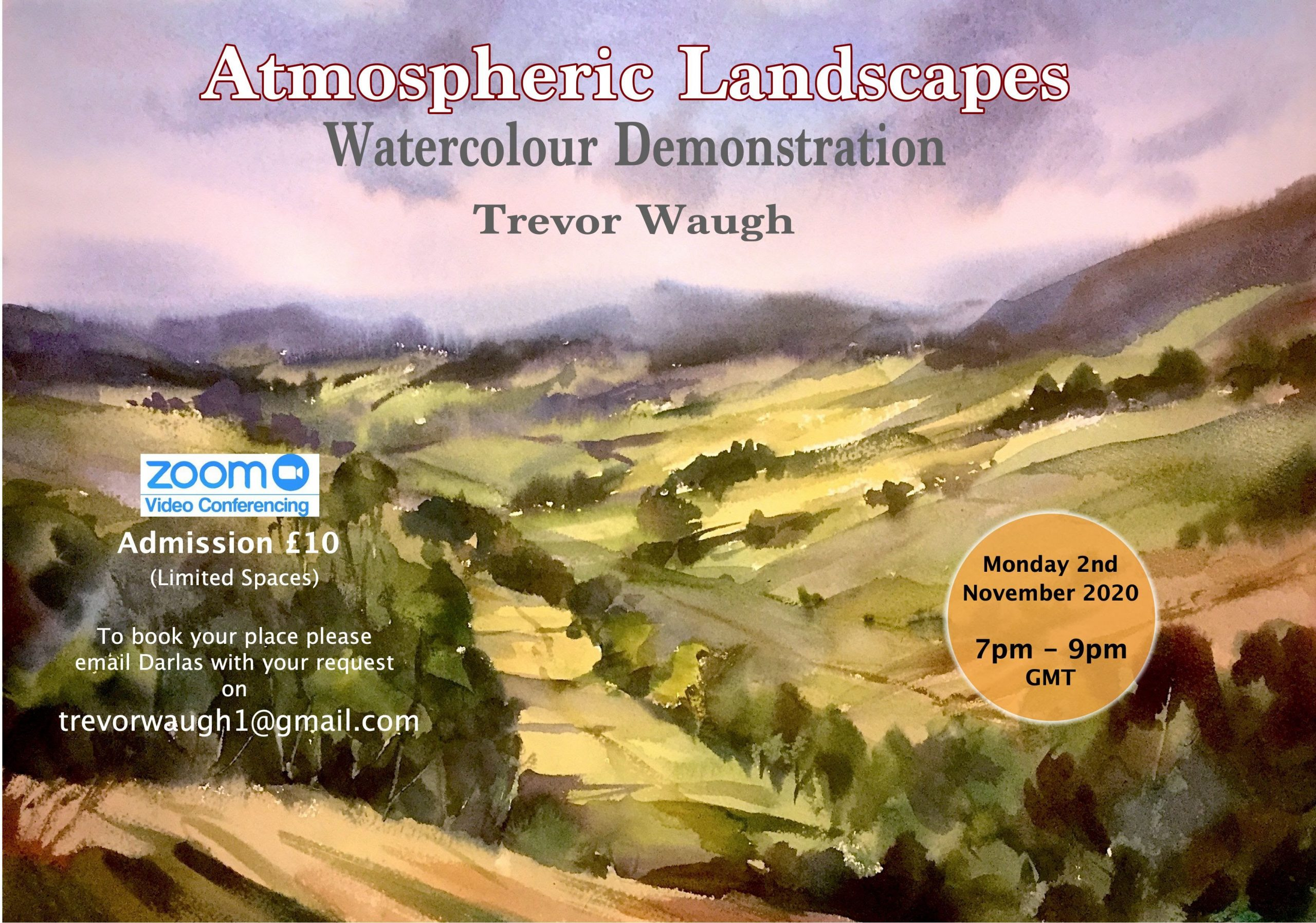 landscape watercolour image for Trevor Waugh Course