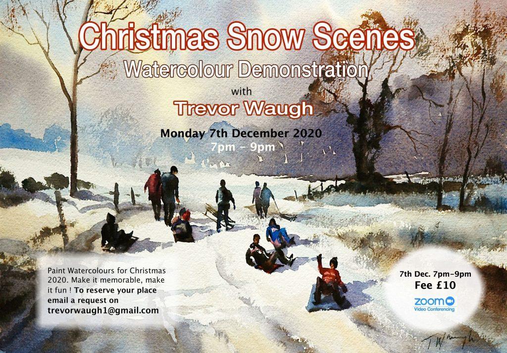 Christmas Snow Scenes Tutorial
