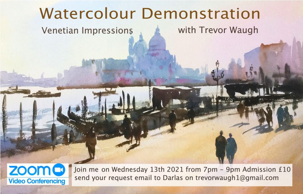 Venetian Impression watercolour tutorial by Trevor Waugh