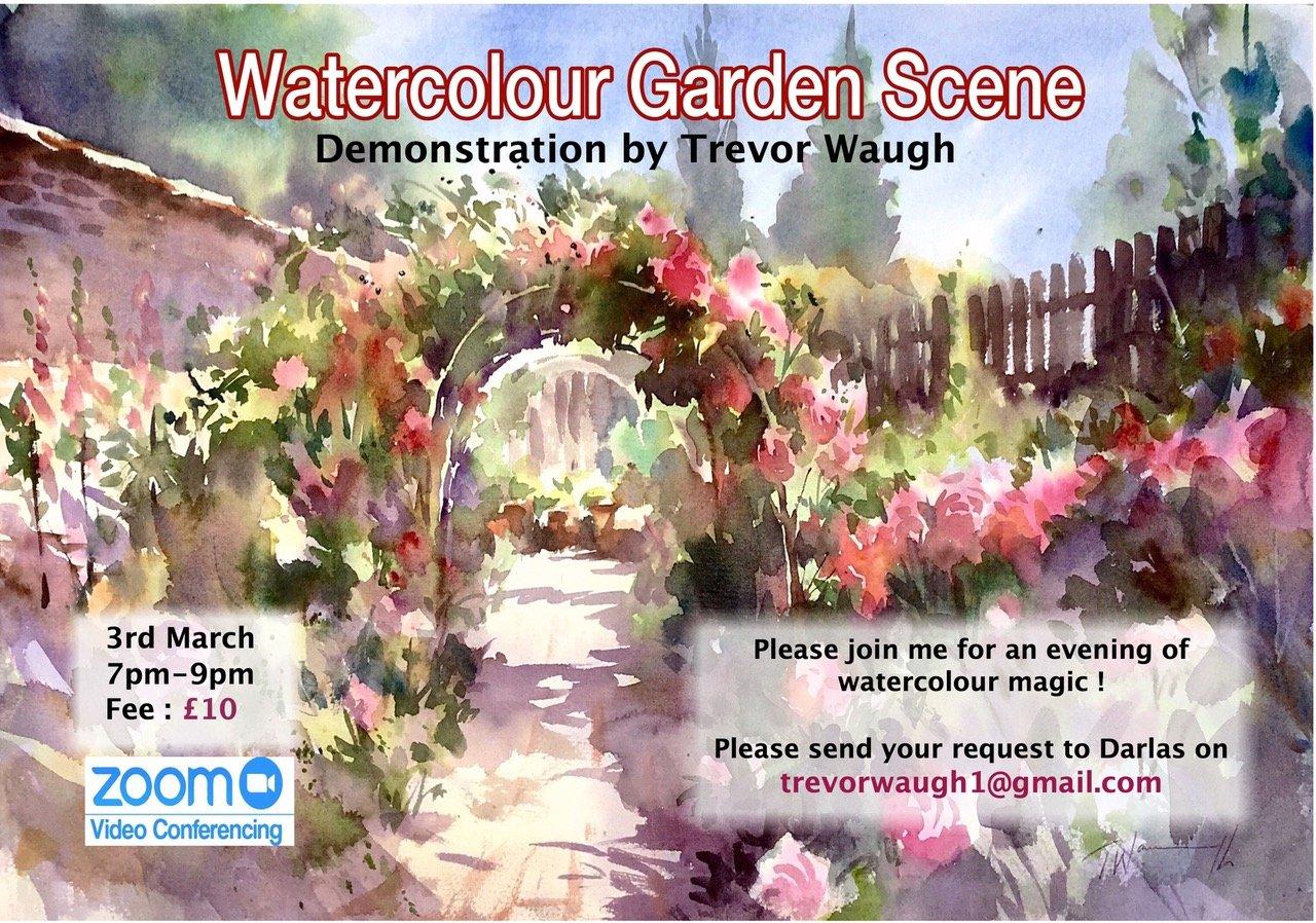 Watercolour Demonstration. Garden Scenes